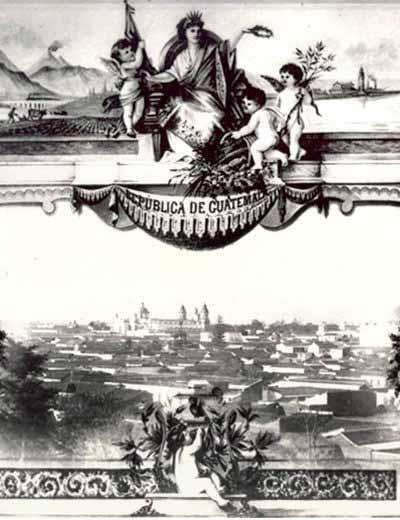 Vista panorámica de la ciudad de Guatemala de principios del siglo XX (Ver mas...)